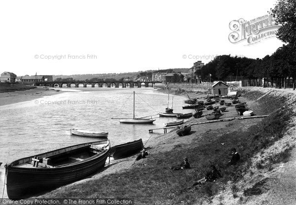 Barnstaple, From South Walk 1894