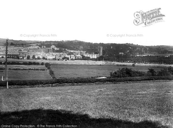 Barnstaple, From Sticklepath Hill 1929