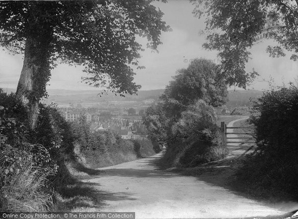 Barnstaple, From The Old Bideford Road 1912