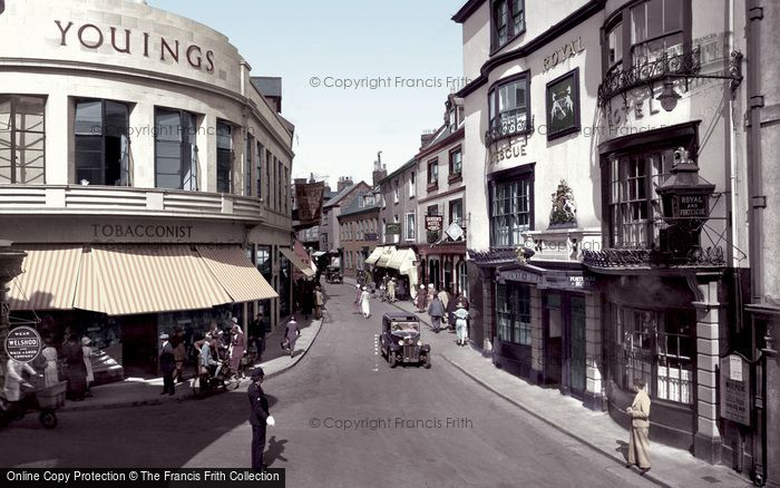 Barnstaple, High Street Corner 1935