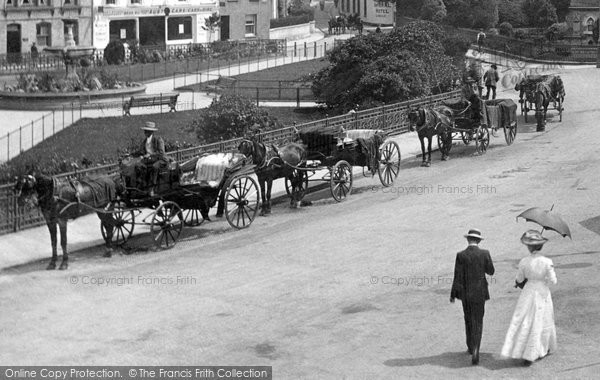 Barnstaple, Horse Drawn Cabs 1912