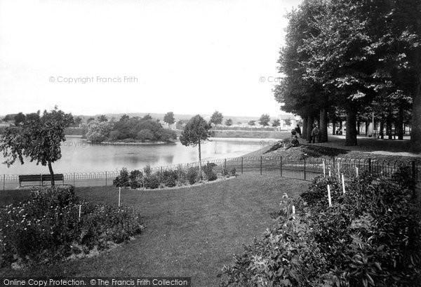 Barnstaple, North Walk Lake 1894