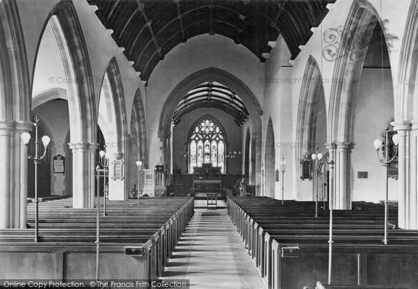 Barnstaple, Parish Church Interior 1919