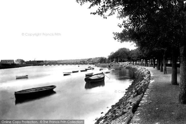 Barnstaple, River Taw And South Walk 1899