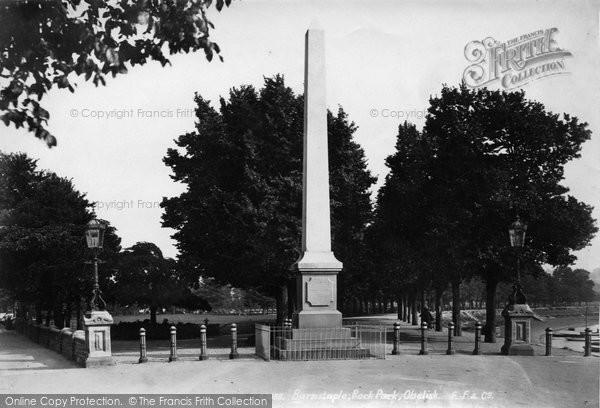 Barnstaple, Rock Park Obelisk 1899