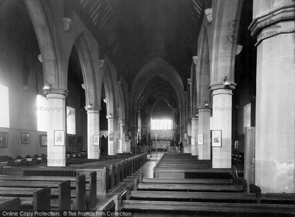 Barnstaple, St Mary's Church, The Nave c.1950