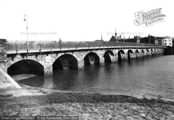 Barnstaple, The Bridge c.1955