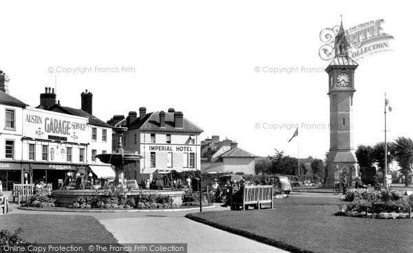 Barnstaple, The Fountain And Clock Tower c.1955