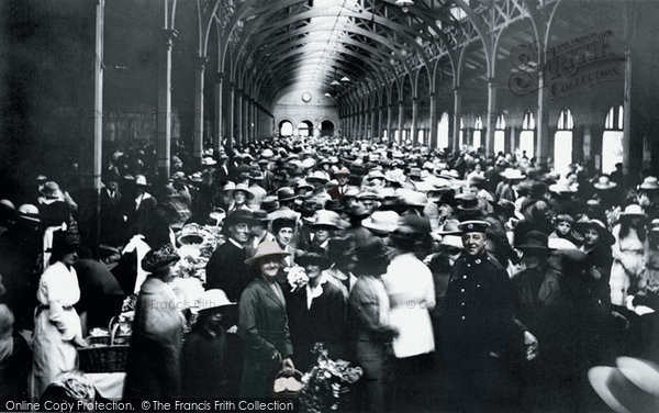 Barnstaple, The Market 1919