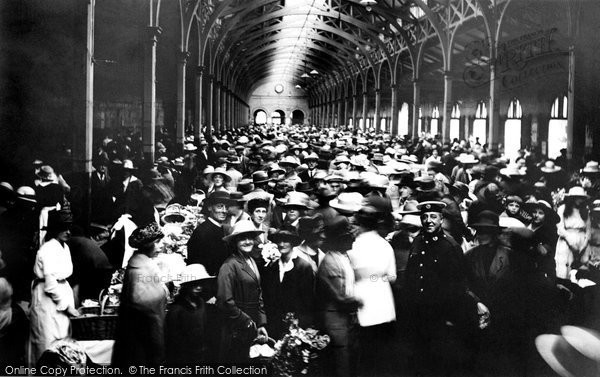 Barnstaple, The Pannier Market 1919