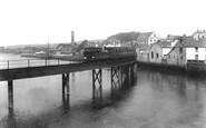 Barnstaple, The Railway Bridge Over The River Taw 1912