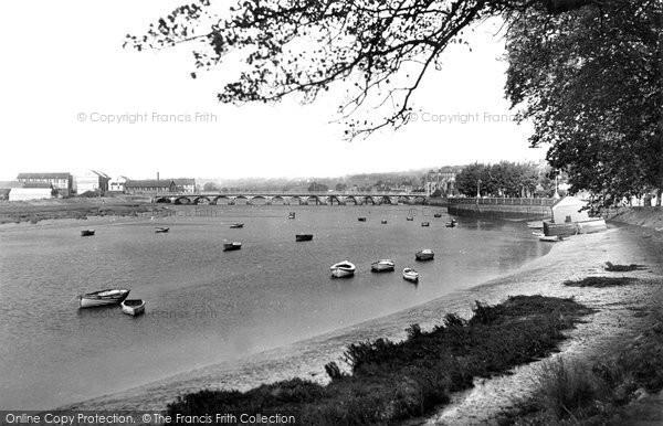 Barnstaple, The River Taw c.1955