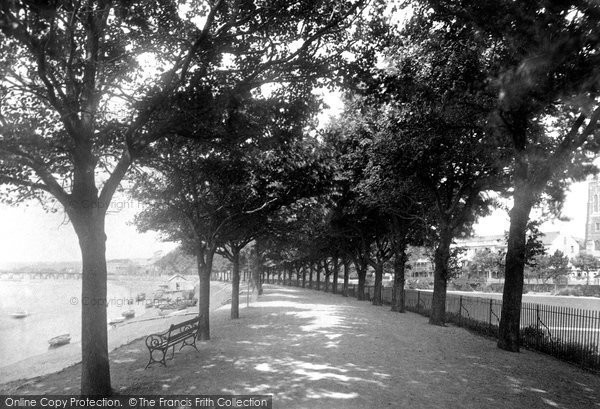 Barnstaple, The South Walk 1894