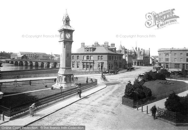 Barnstaple, The Square And Bridge 1894