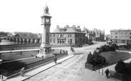 Barnstaple, The Square And Bridge 1894