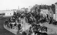 Barnstaple, The Strand, Horse Fair 1923