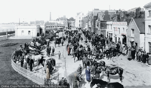 Barnstaple, The Strand, Horse Fair 1923