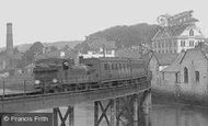 Barnstaple, Train Crossing The Railway Bridge 1912