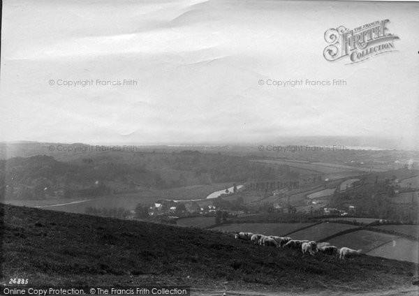 Barnstaple, View From Coddon Hill 1890