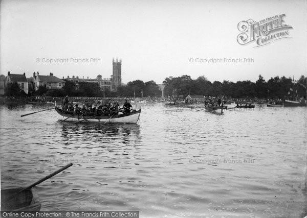 Barnstaple, Viking Boat On The River Taw 1935