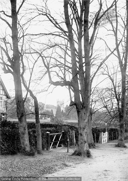 Barnwood, Church From The Avenue 1914