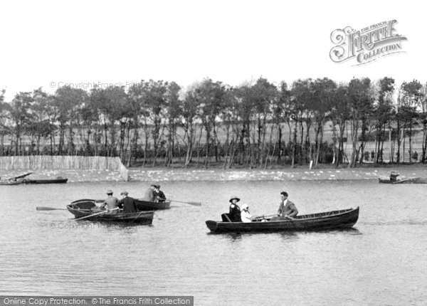 Barrow In Furness, Boating, Park Lake 1924