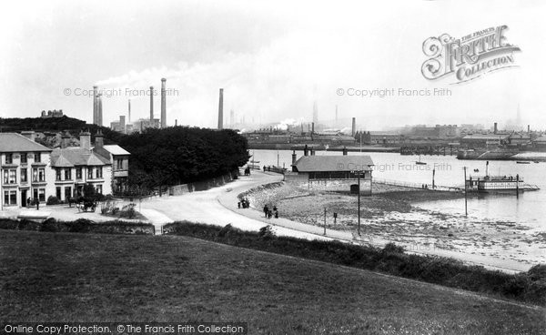 Barrow In Furness, Ferry Hotel And Ferry 1898