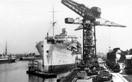 Barrow-In-Furness, The Shipyard, Devonshire Dock c.1950