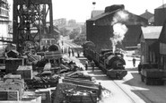 Barrow-In-Furness, Train In The Shipyard, Devonshire Dock c.1950