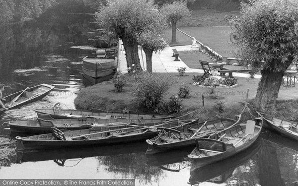 Photo of Barrow upon Soar, the River Soar c1955