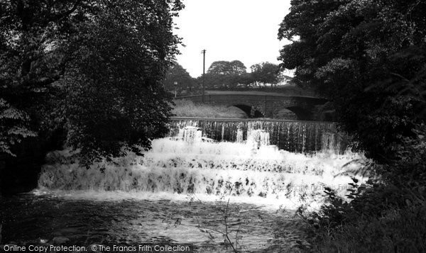 Barrowford, The Waterfall c.1955