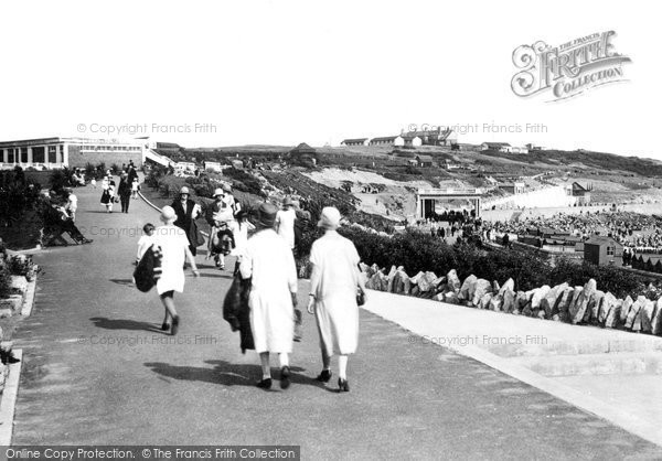 Barry Island, Public Gardens And Nell's Point c.1930