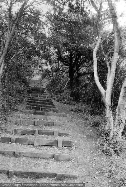 Photo of Barry, Porthkerry Park Golden Stairs 1910