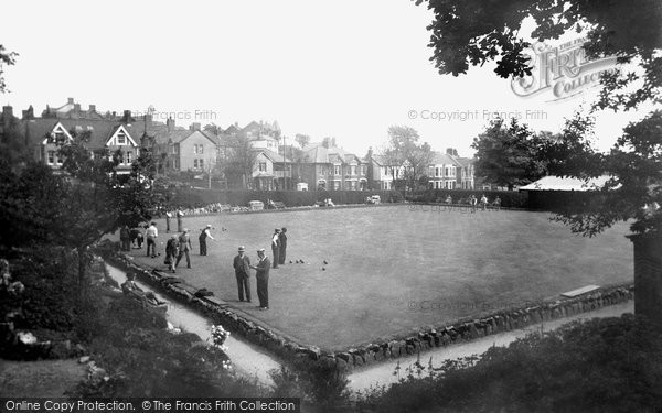 Barry, Romilly Park, The Bowling Green c.1960