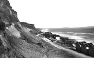 Barton On Sea, The Beach And Cliffs c.1935