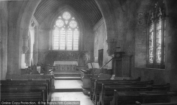 Barton Seagrave, Parish Church Interior c.1960