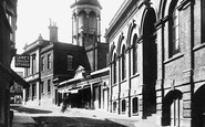 Basingstoke, Corn Exchange And Town Hall, Wote Street 1898