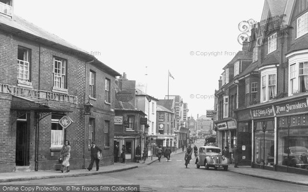 Basingstoke, Winchester Street From Winton Square c.1955
