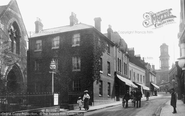 Basingstoke, Wote Street And Emmanuel Church c.1900