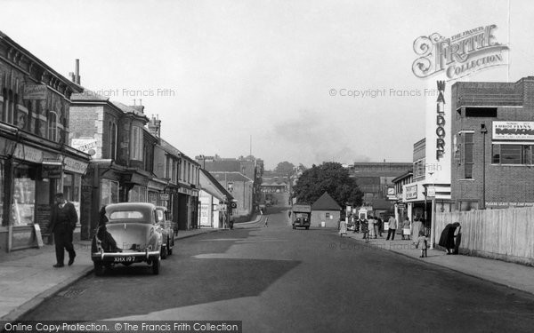 Basingstoke, Wote Street Looking Towards Station Hill c.1955