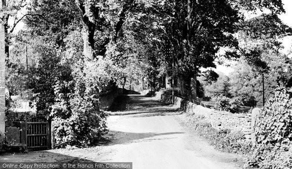 Baslow, Bubnell Lane c.1955
