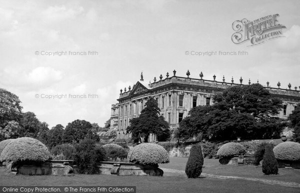 Baslow, Chatsworth House c.1955