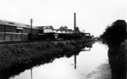 Bason Bridge, Wilts United Dairies And River Brue c.1955