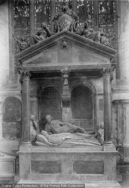 Bath, Abbey, Waller Monument 1901