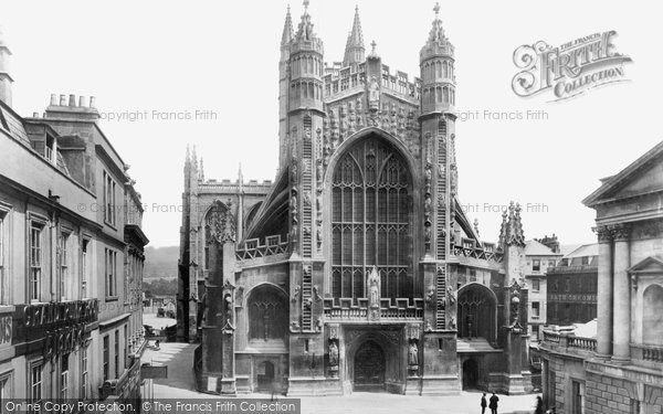 Bath, Abbey, West Front 1901