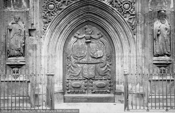 Bath, Bath Abbey, West Door c.1873