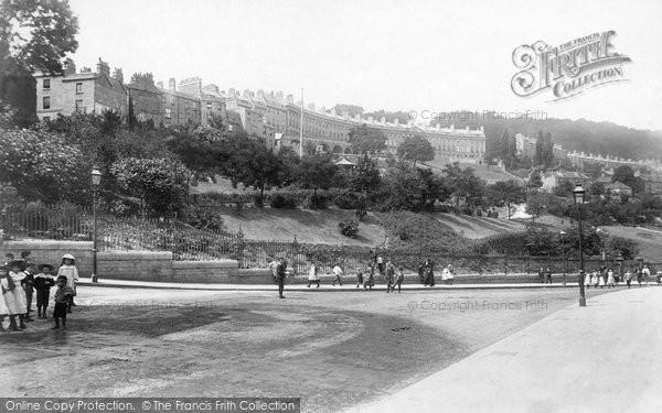 Bath, Camden Crescent & Hedgemead Park 1895