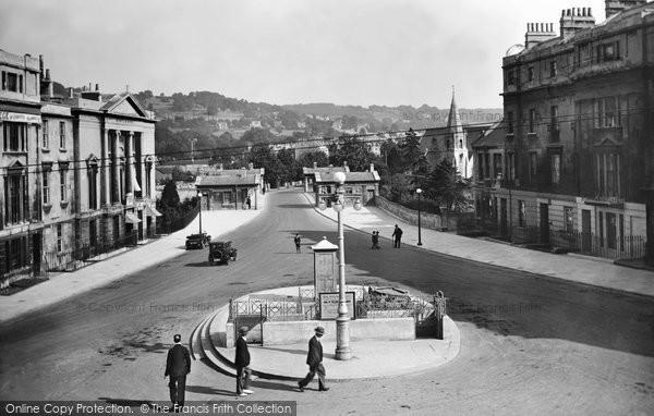 Bath, Cleveland Place And Bridge 1929