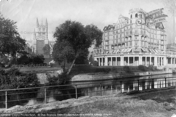 Bath, Empire Hotel And Abbey 1902