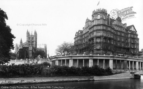 Bath, Empire Hotel And Abbey 1935
